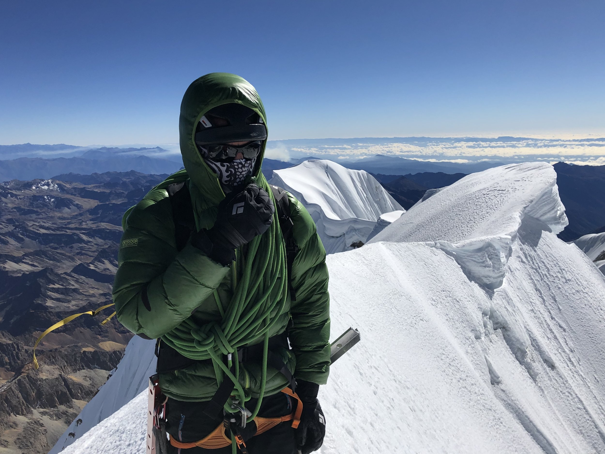 Dale, looking cold on the summit