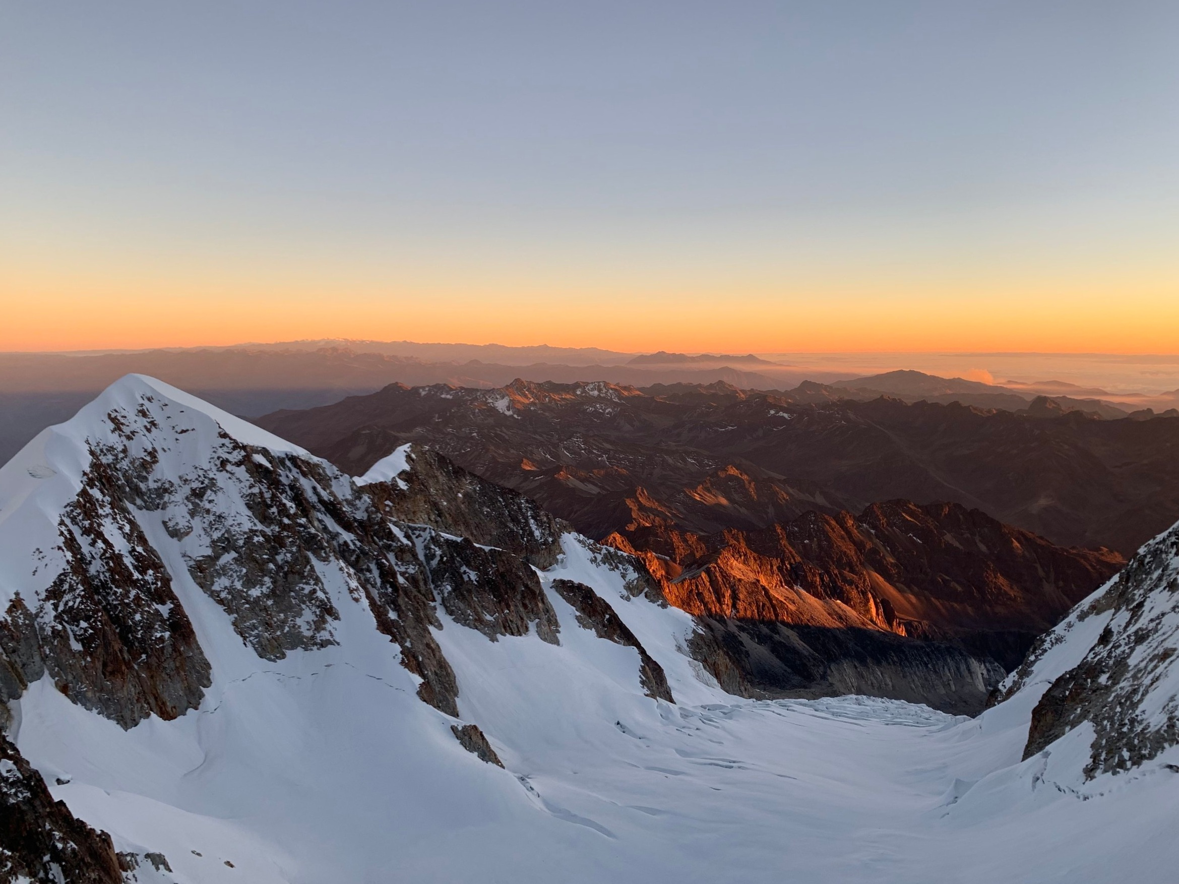 Daybreak on top of the headwall