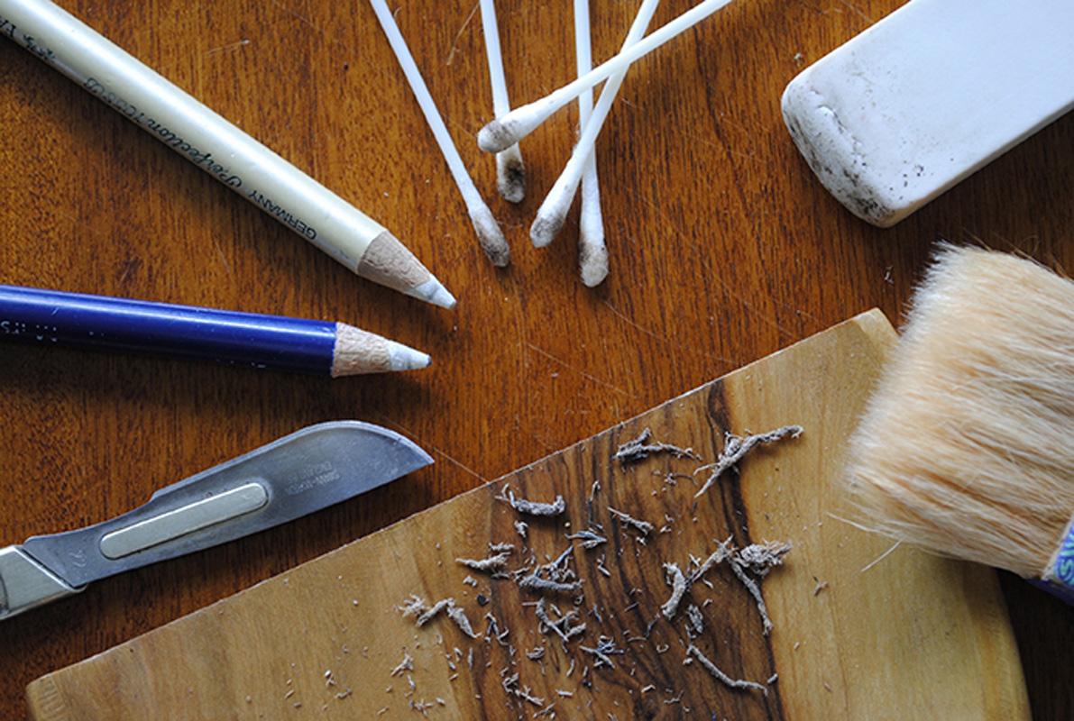 Outils utilisés lors d'un nettoyage mécanique