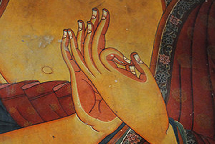 Restoration-thangka-buddha-hands-the role-of thangkas