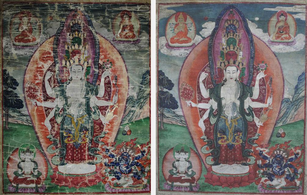 Vue générale : avant et après restauration esthétique