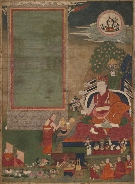 Lama Engaged in Ritual c. 17th century. Source: Wikimedia Commons