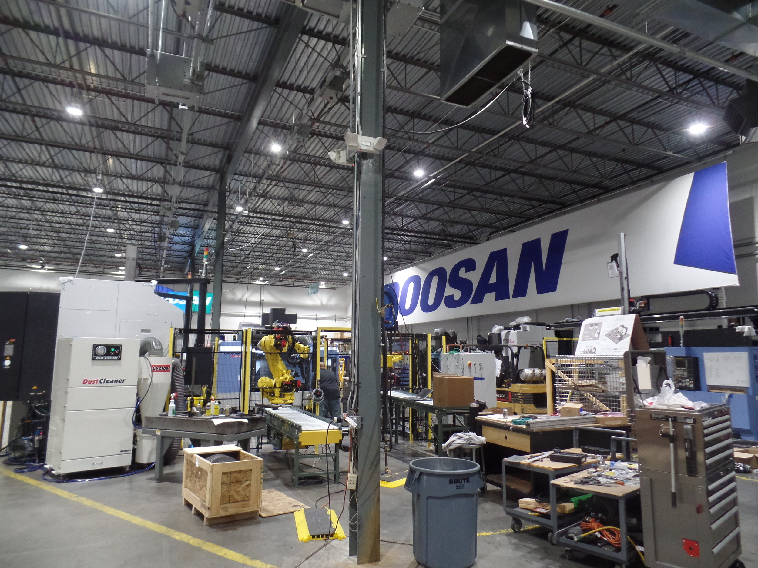 Doosan LED Lighting Upgrade - Albright Energy Solutions - Albright Electric Mahwah NJ