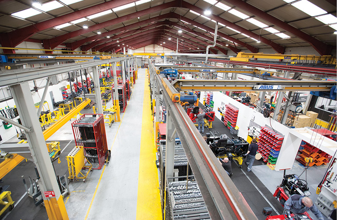 """FIG. 4. If any of these lights fail at Cargotec's Dundalk, Ireland facility, it's UrbanVolt's responsibility. """"A major benefit for Cargotec is the reduction in maintenance issues and cost, as the on-site staff no longer have to upgrade and fix light fittings daily,"""" said Cargotec's Ronan McClorey.  Photo credit: UrbanVolt."""