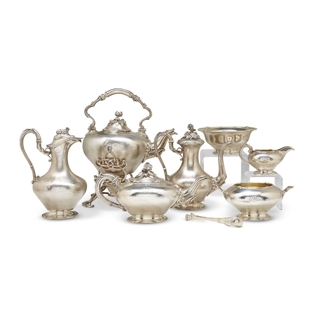 A French Sterling Silver 8 Piece Tea Set