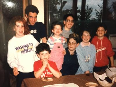 Here's the eight kids. we grew up like siblings.