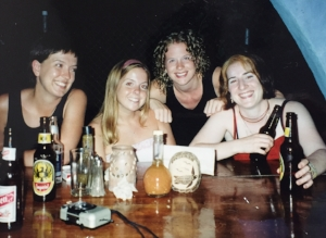 Ha! I'm double fisting. Melinda (the woman next to me) and I are still dear friends to this day. We've hung out quite a bit over the years!! Miss you Mel! xoxo