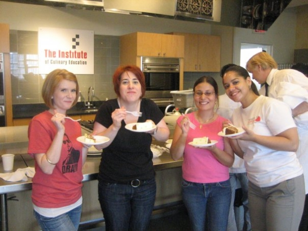 I'm eating my cake. And liking it too. I miss these ladies!! HEYA M J M!!