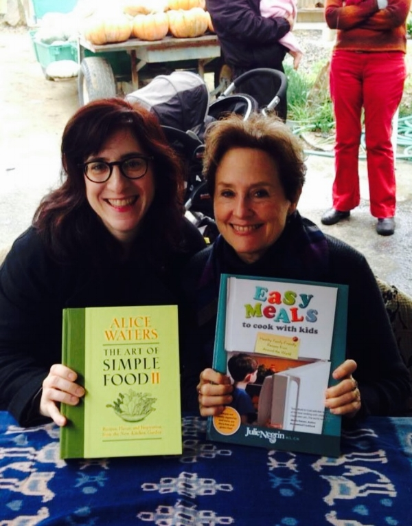 When I met Alice Waters and handed her my book, she graciously agreed to take a photo with me! It's so awesome to meet a hero and find out they are as lovely as you'd hope they'd be. :)