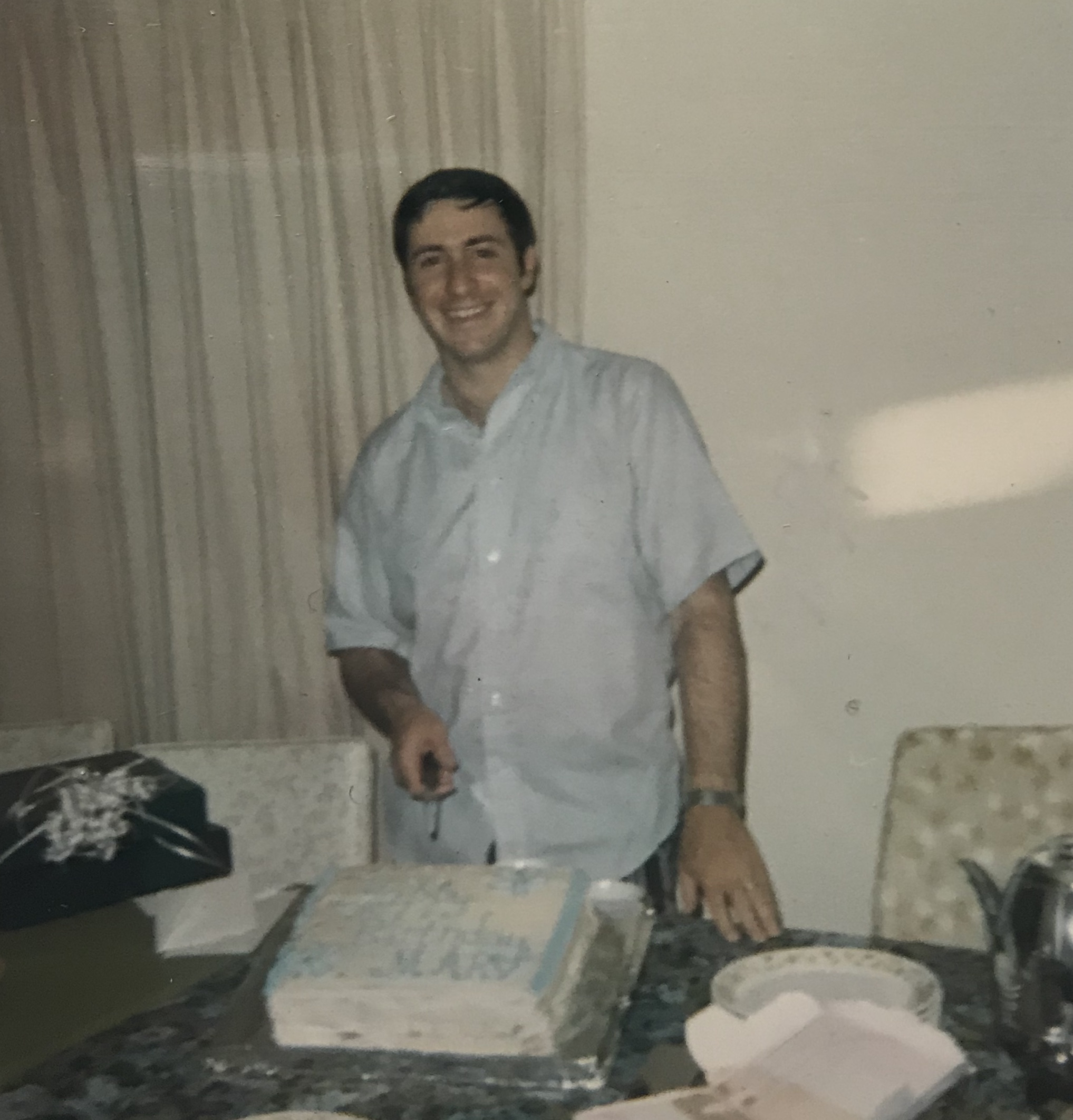 I think this was taken when he must have been turning around 24 or 25. My parents married very young, my mom was only 21 and my dad was 23. My brother was born a year later.