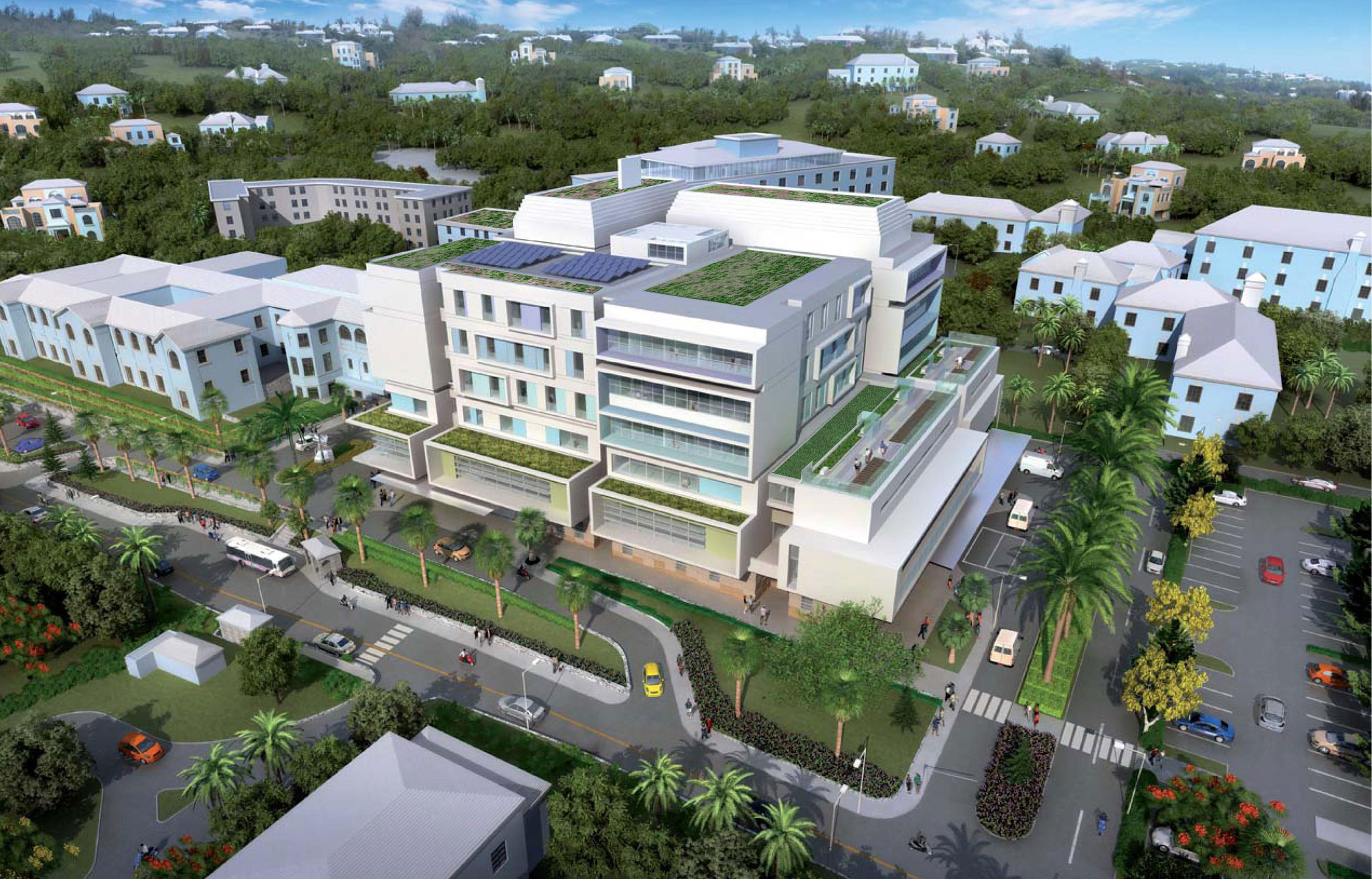 King Edward Memorial Hospital - Aerial Perspective