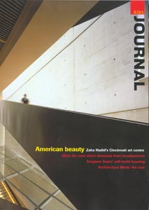RIBA Journal - June 2003  Not Just a Pipe Dream. Reducing the effects of urban runoff through sustainable drainage