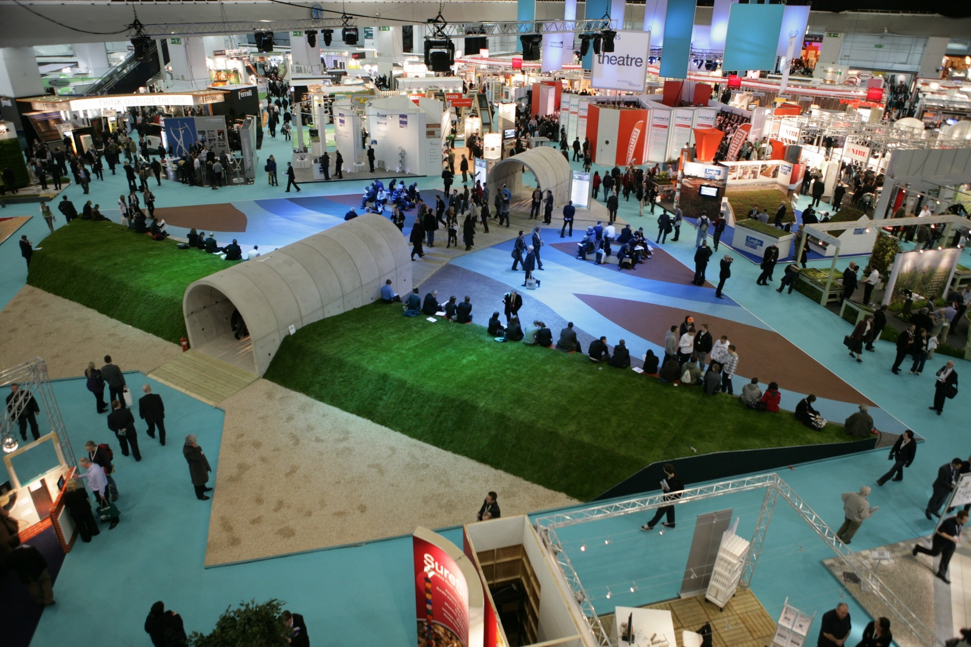 Image of our design for the central space at Ecobuild 2010 entitled 'A River Runs Through'