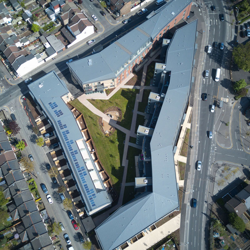 Leyton Central Aerial View