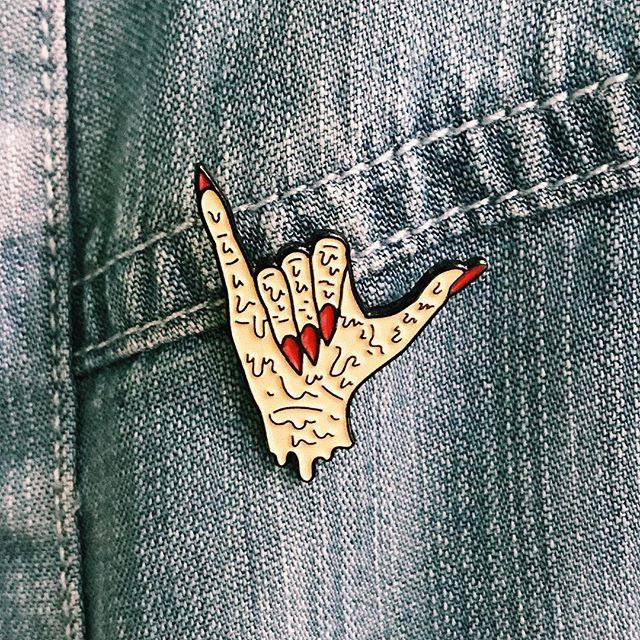 Meltdown Shaka pin still available online 🤙🏼⚡️