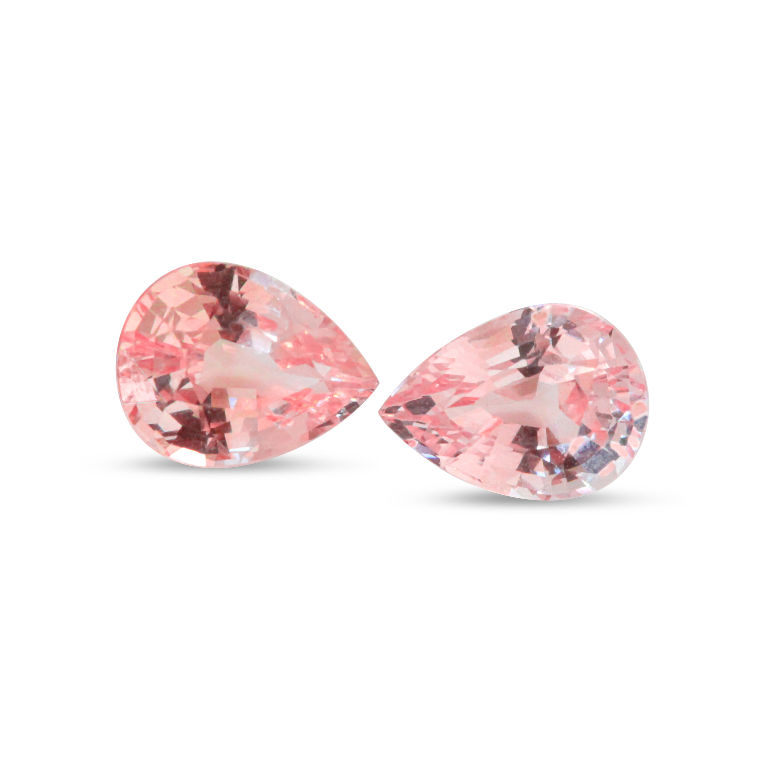 3 ctw Unheated Padparadscha Sapphire Pair, AGL