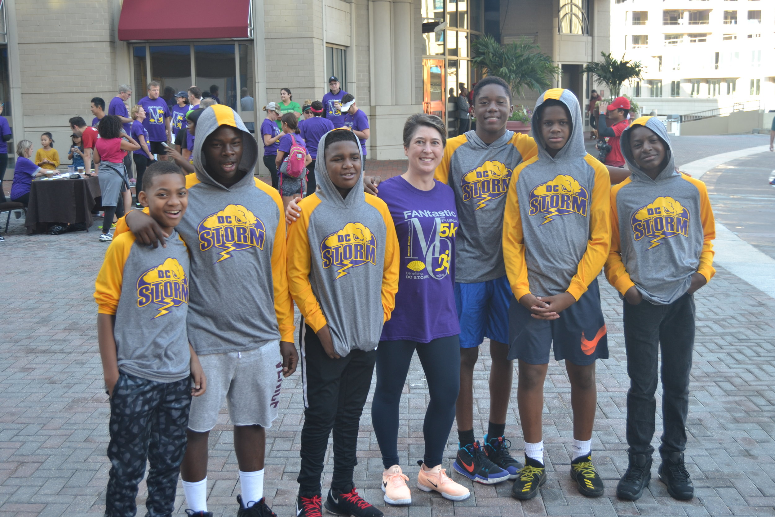 DC STORM members at Mandarin Oriental Hotel's FANtastic 5k Race.