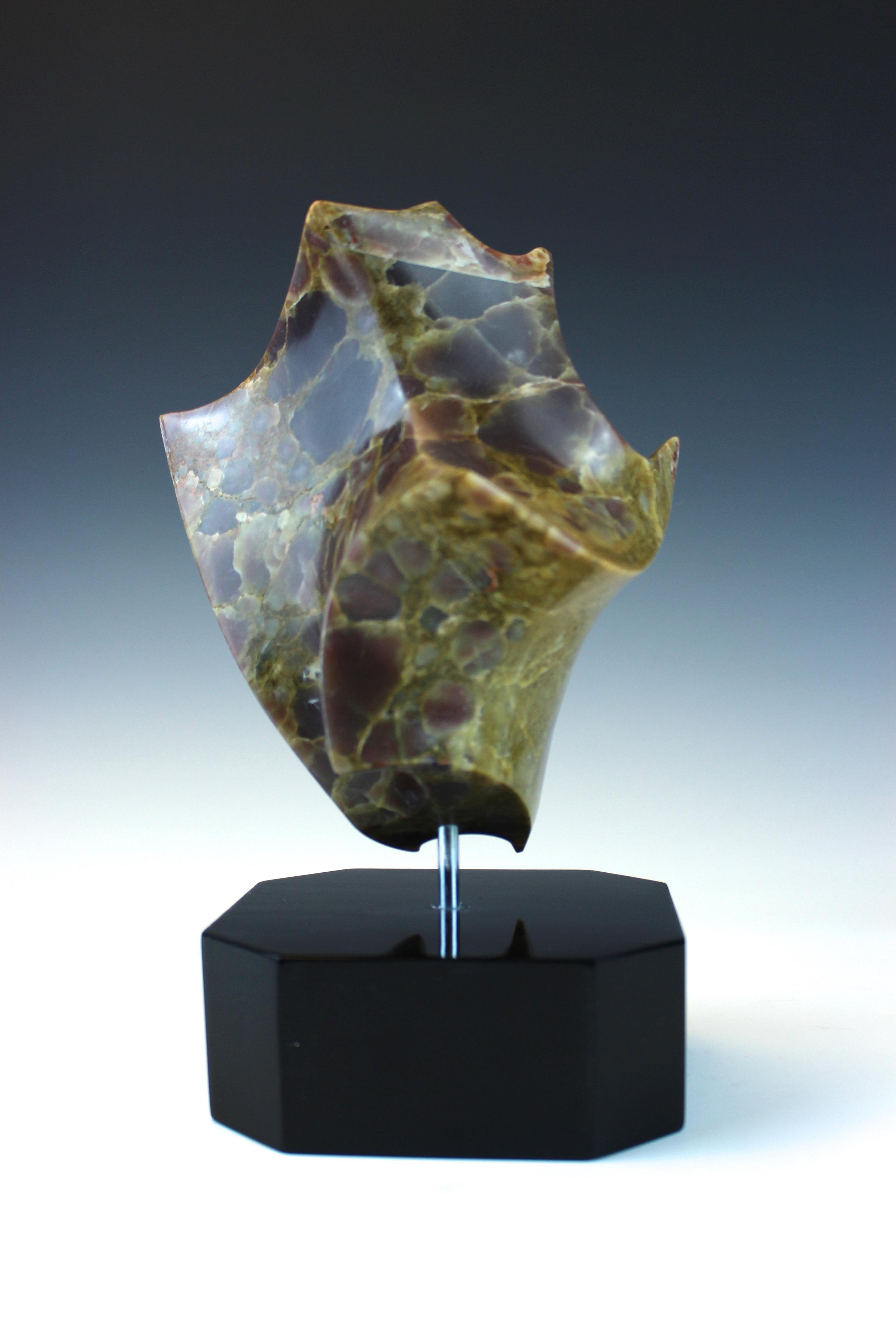 """Untitled"" - Tortoise Shell Alabaster Sculpture"
