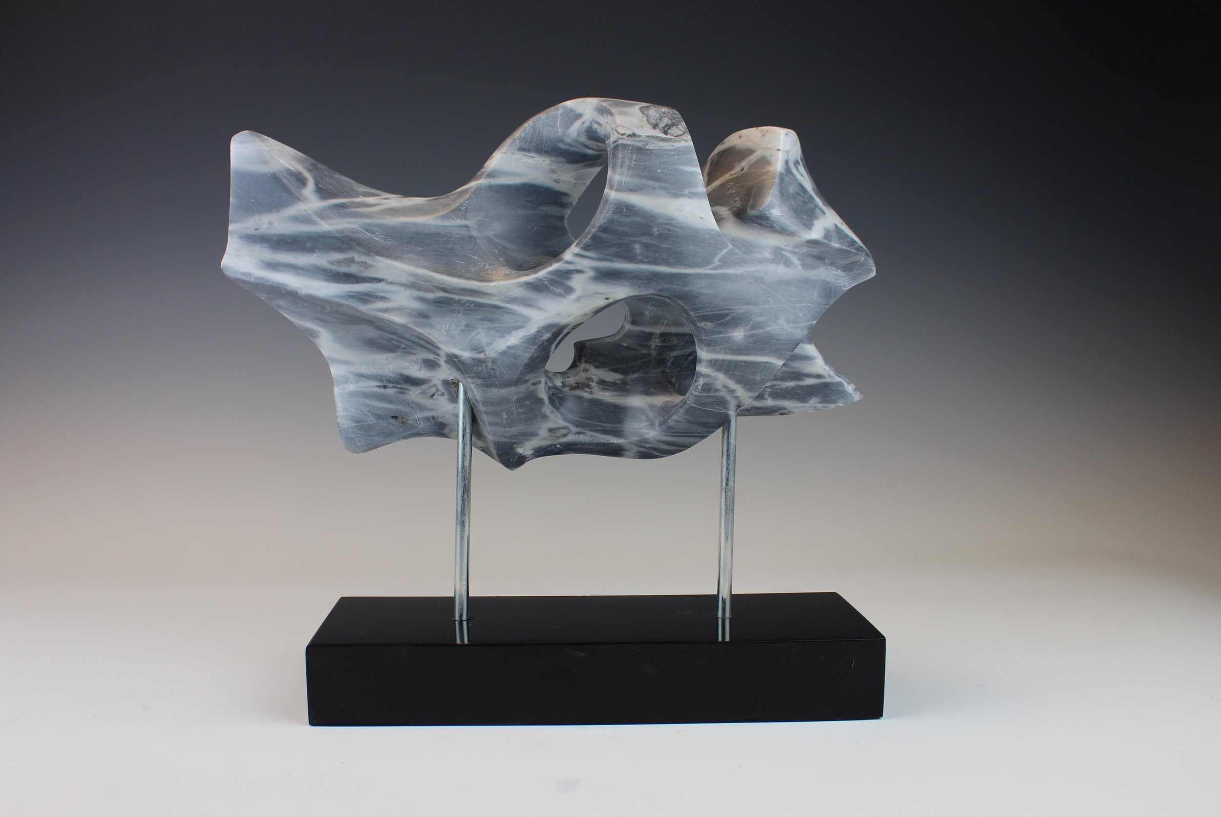 Untitled Bordiglio Marble Contemporary Sculpture
