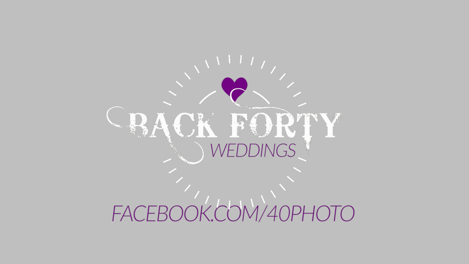 Back Forty Wedding Videography