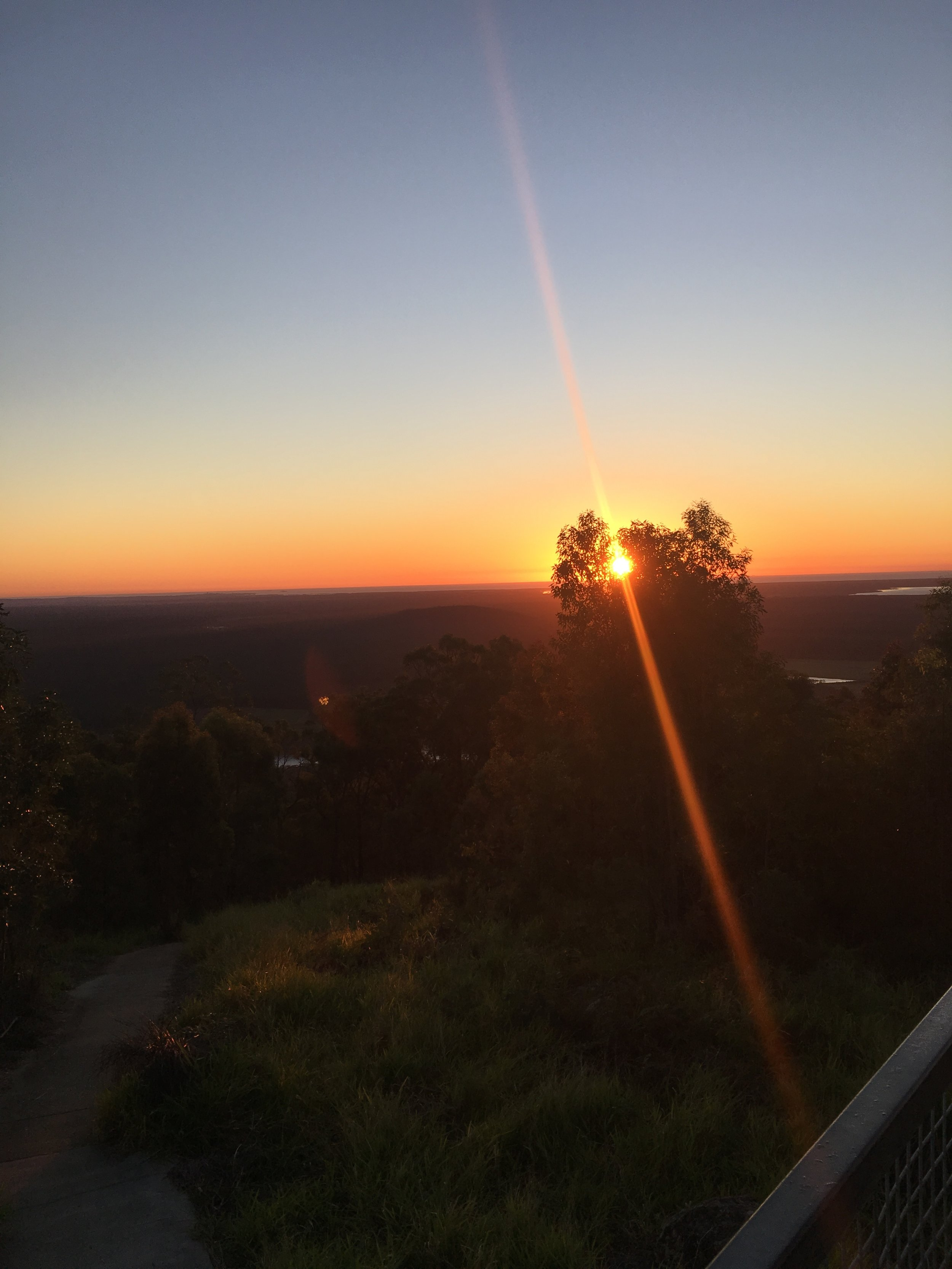 The Sunrise from the fire tower