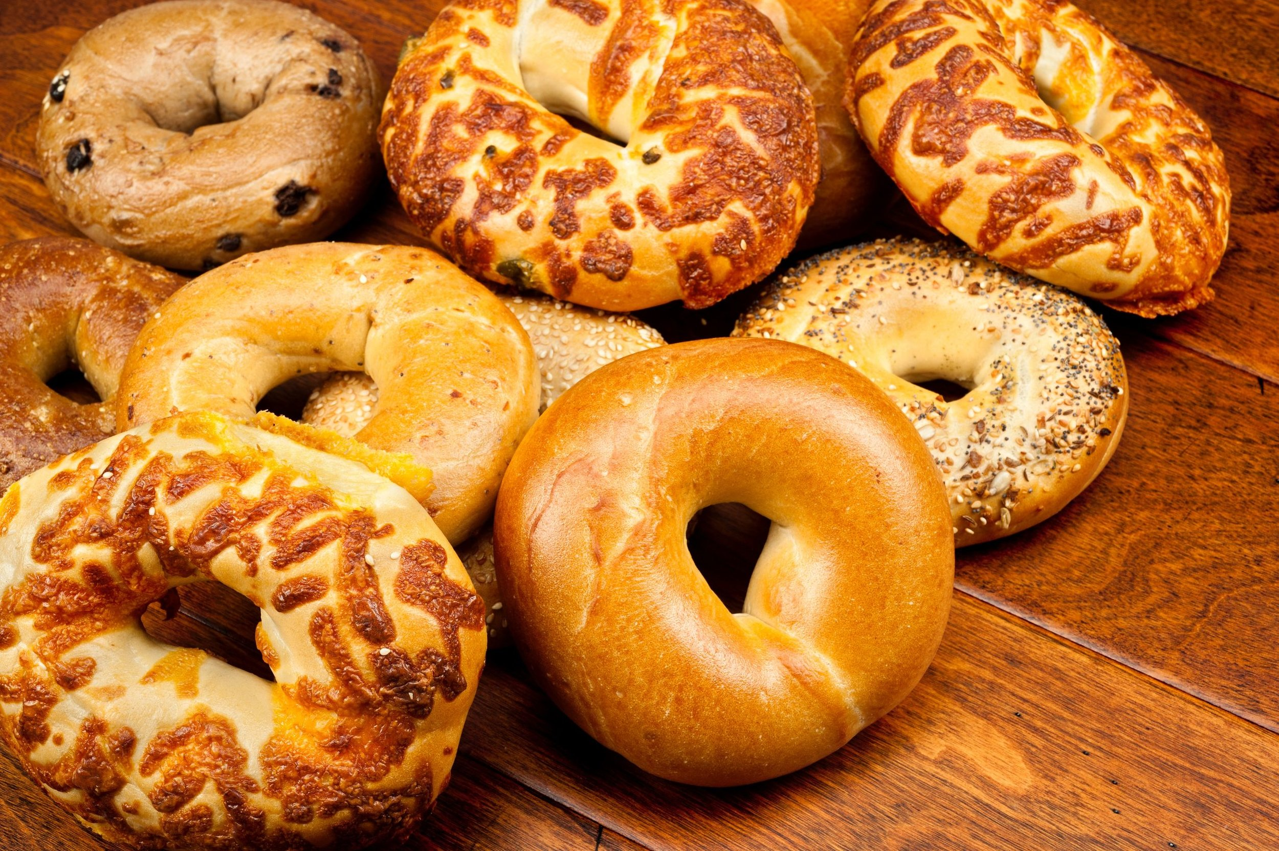 Fresh baked bagels daily