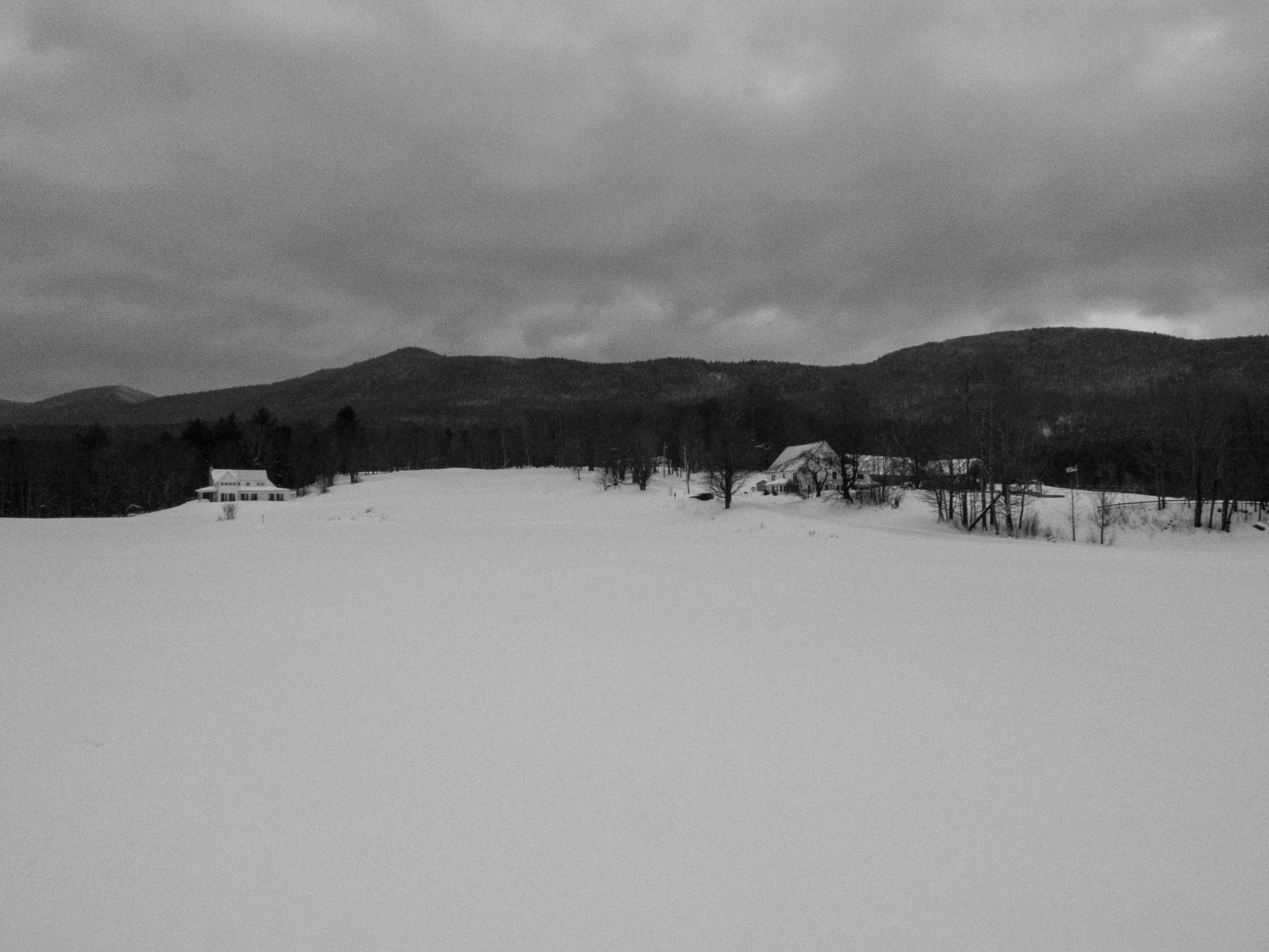 Looking north from Harvey's farm. I believe that's Braintree Mountain in the background. I'm sure someone will correct me if I'm wrong.