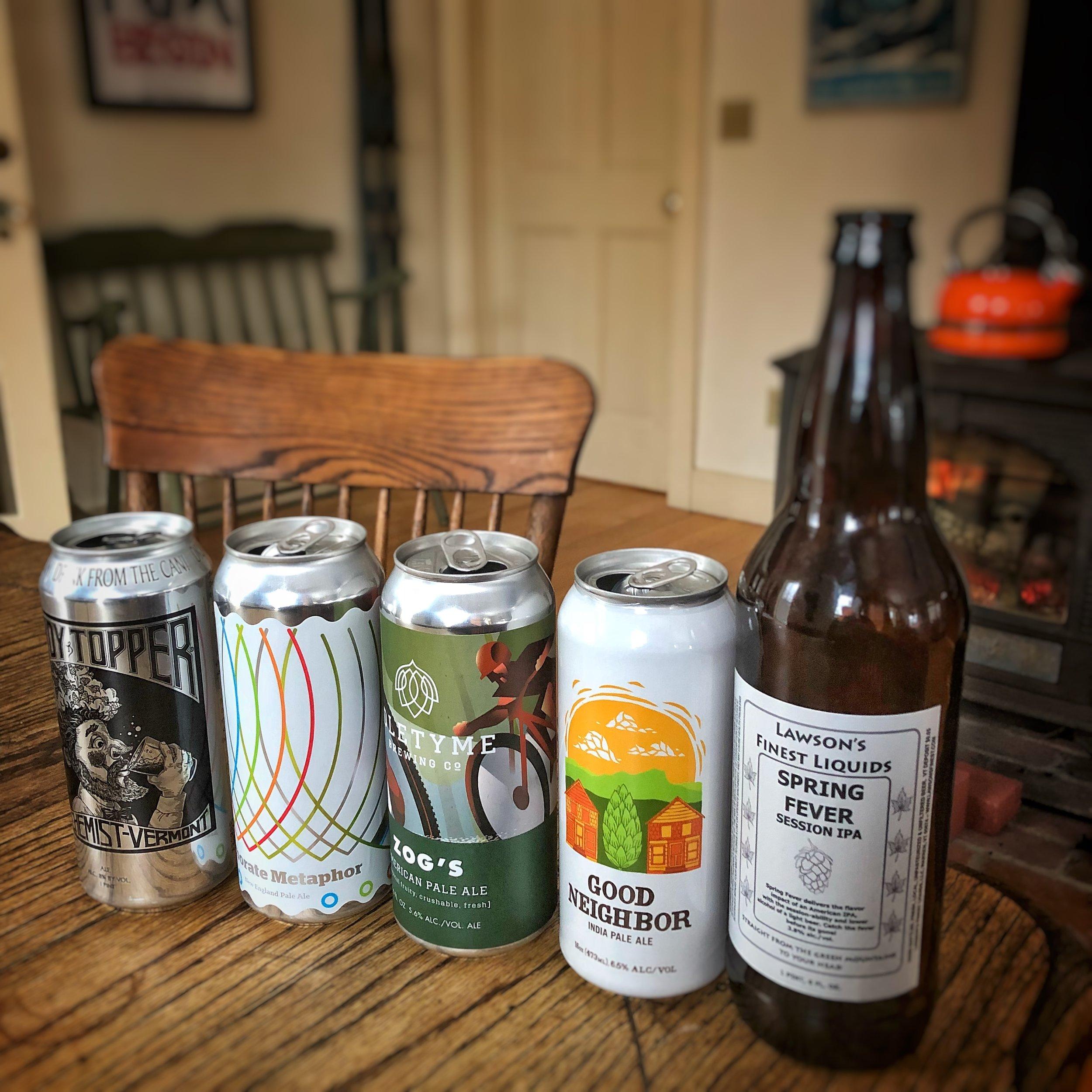 5 good reasons to visit Red Acre Cottage in April...beer, beer, beer, beer and beer.