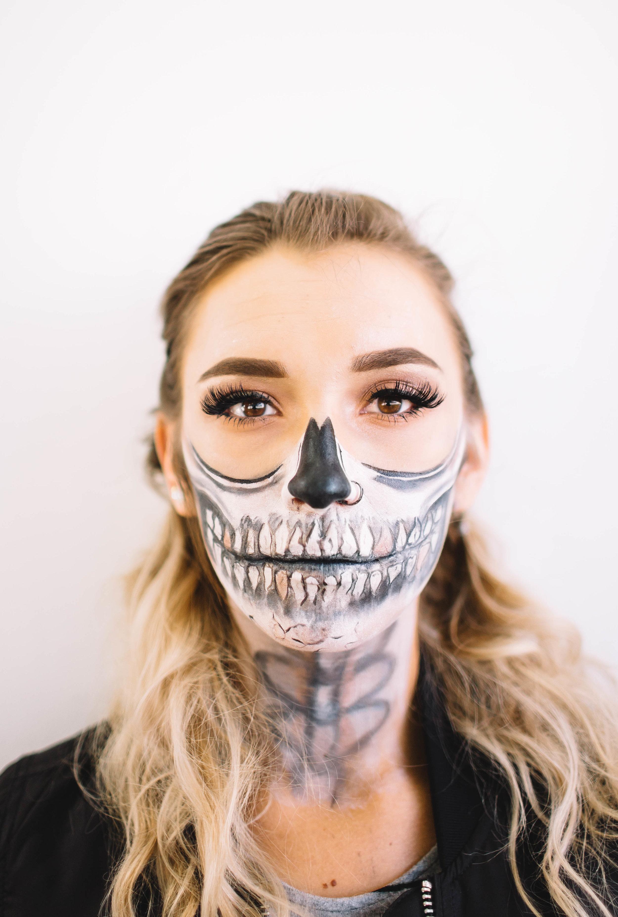 Glam Skeleton - Model: Morgan HeymanMakeup: MePhotographer: Summer Brown