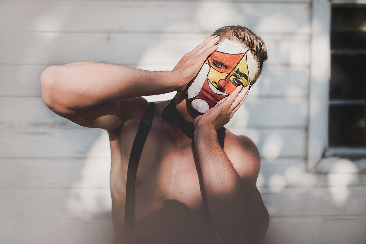 Vintage Clown - Model: Logan EdmundsMakeup: MePhotographer: Brit NicoleCoordinator//Set Design: Jessica EdmundsStylist: Ashley Lauren Reiser