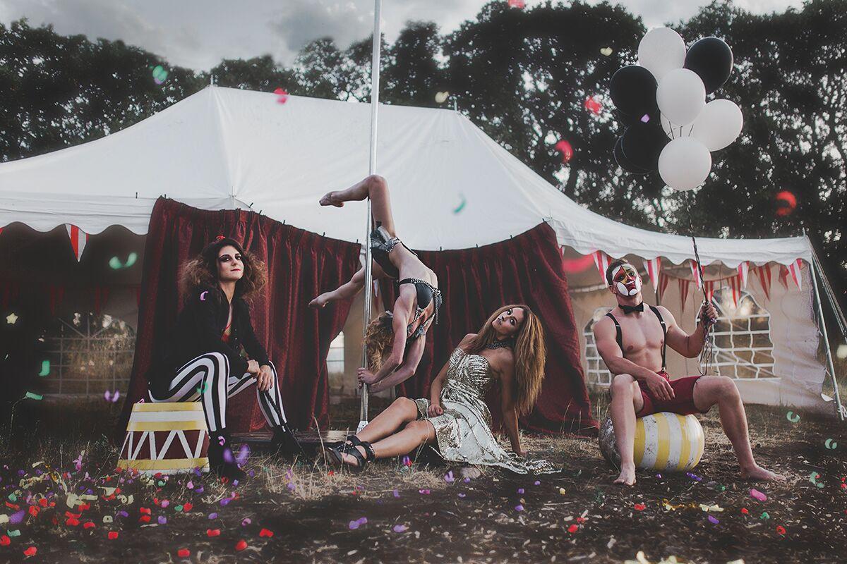 Haunted Circus - Models: Jessica Edmunds, Kendell Fischer, Nadya Cox, Logan Edmunds.Makeup: Me(Vintage Clown), Mak PlockPhotographer: Brit NicoleCoordinator//Set Design: Jessica EdmundsStylist: Ashley Lauren Reiser