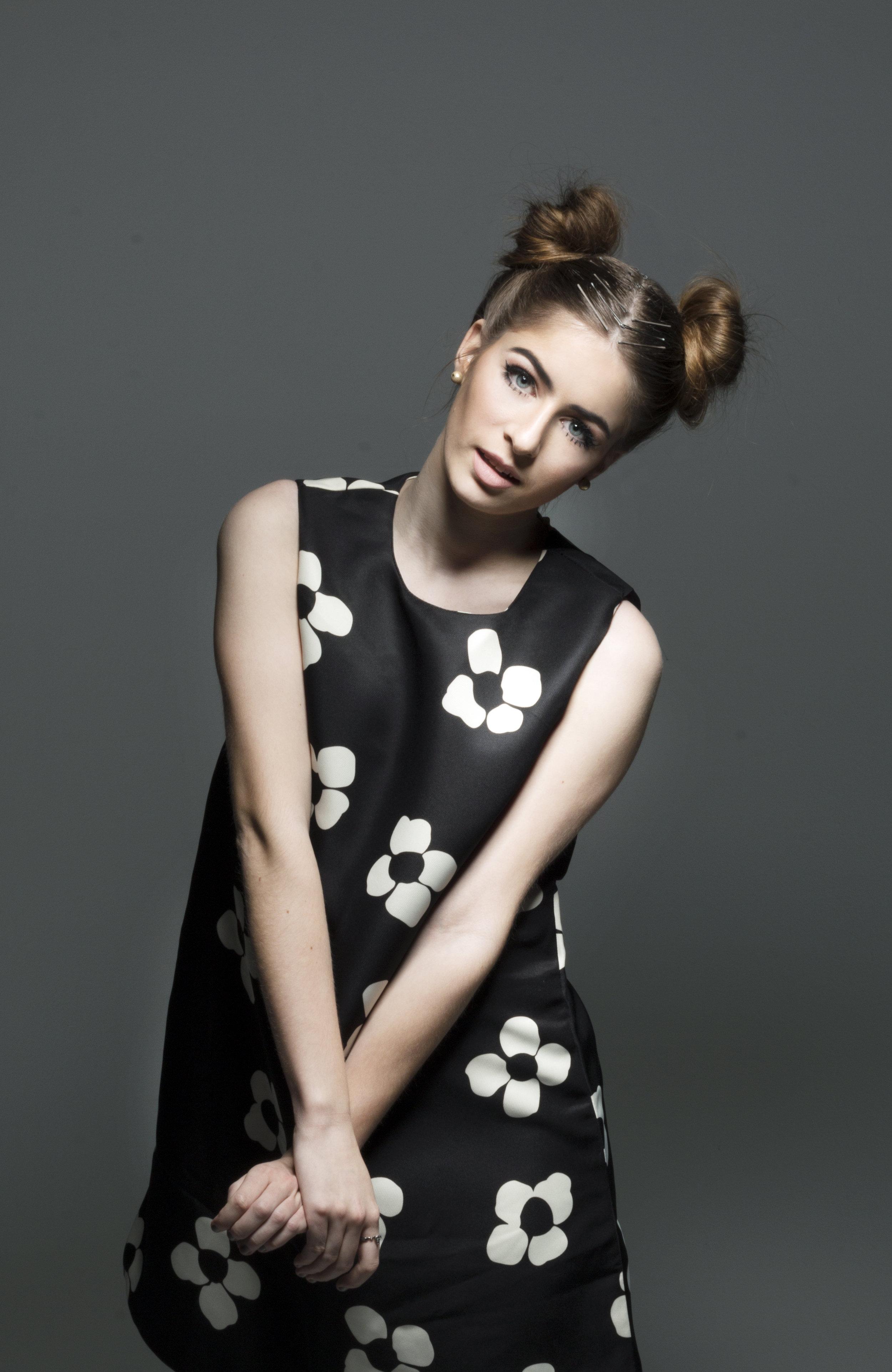 Twiggy Inspired - Model: Kirsten LeslieMakeup: MePhotographer: John ReesHair: Makenzie GuzzoDesigner: Cosmic Wolf Vintage