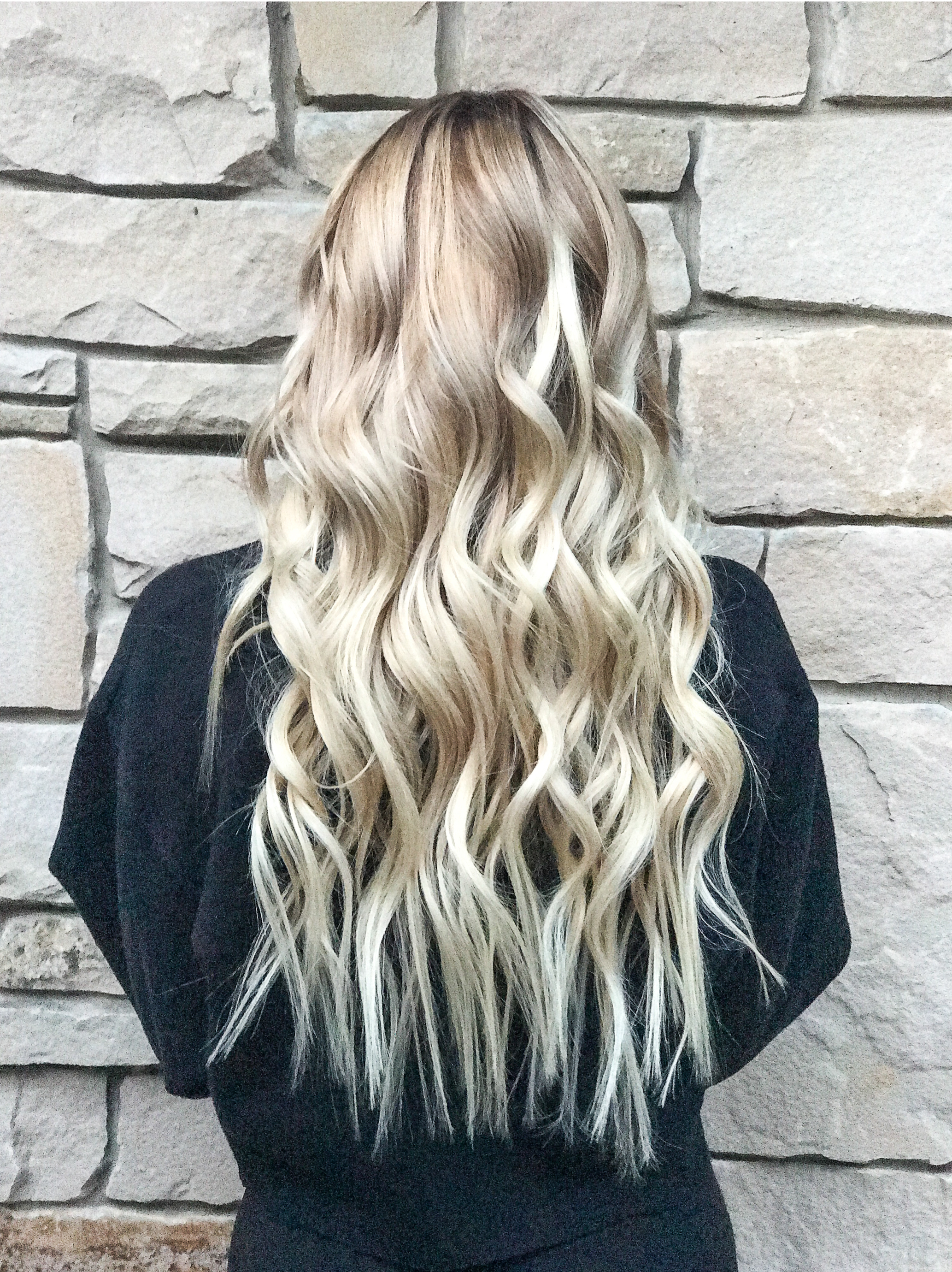 •Bayalage + Babylights + Extensions• - ✨See IG for Before✨We brought up her blonde using Blondor by Wella! And toned with Redken Shades EQ in 08N and 08V on the mid section, and did a shampoo cap to refresh the ends! 😍 and we used @babe_hairtape in extensions!