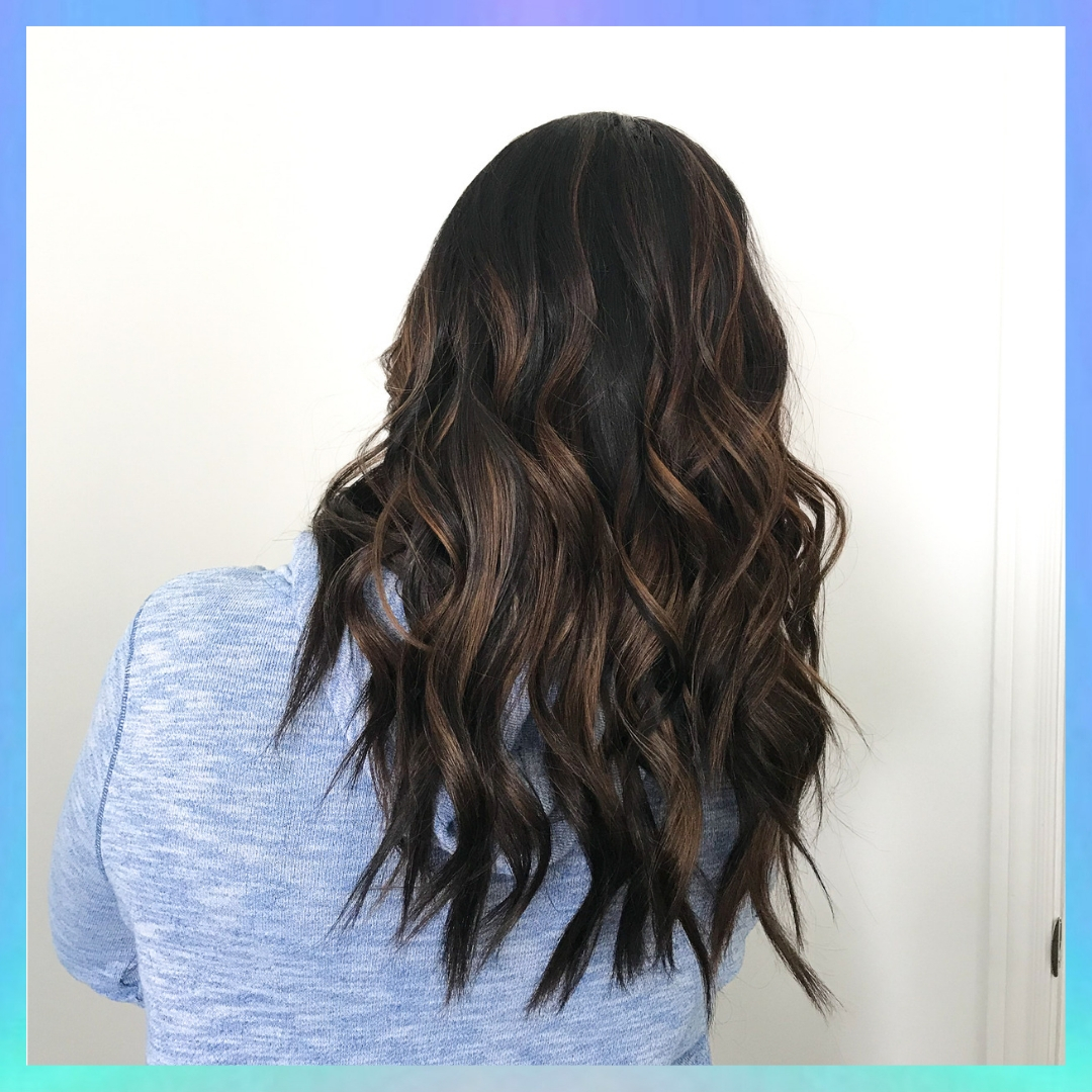 Dark w/ a Little Caramel - Balayage with Blonder by Wella + Root Shadow and Toned with Redken Shades EQ!Color Correction from Black Box Dye✨See IG for Before!✨