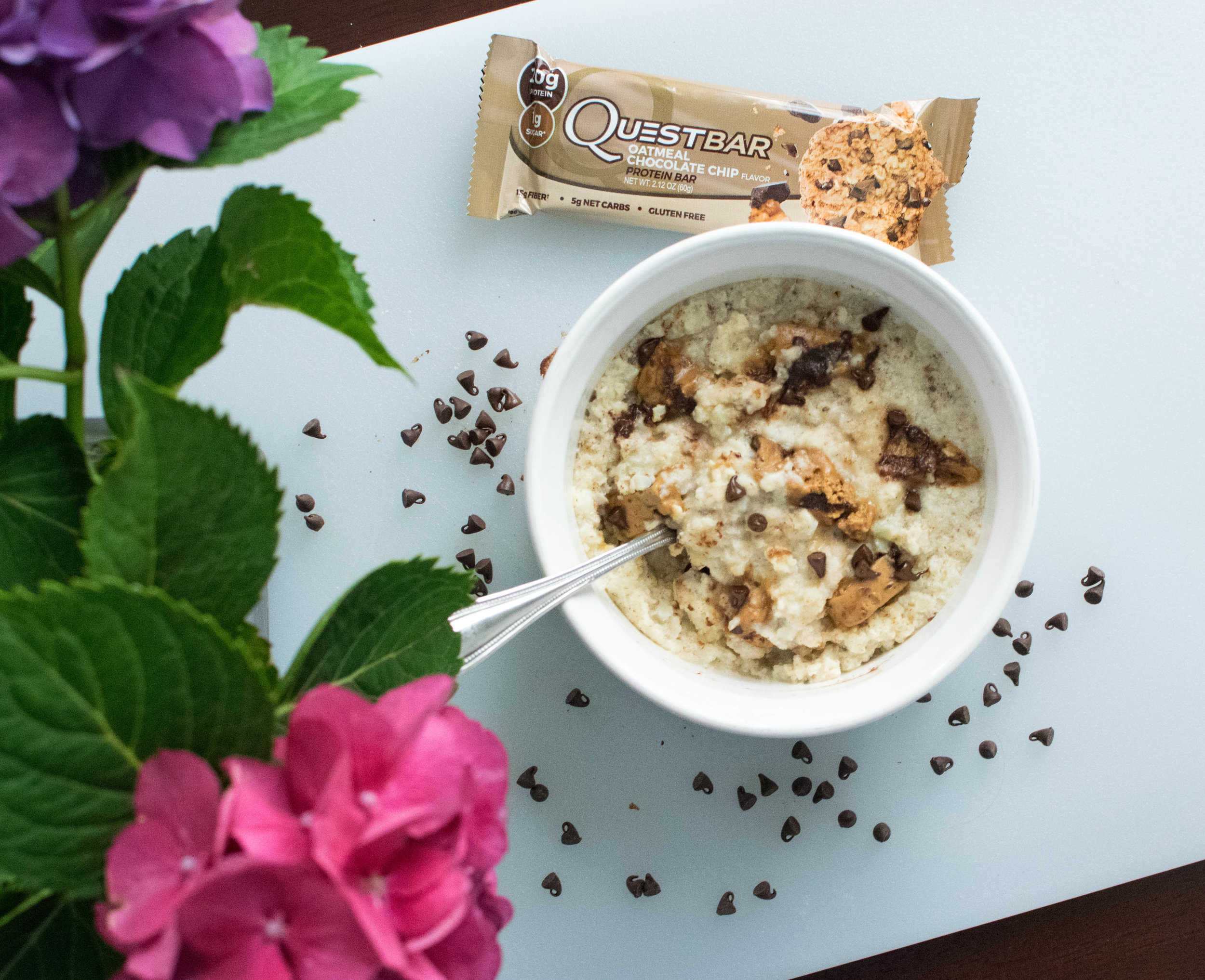 This breakfast will pack over 30g of protein into your morning while tasting like cookie dough......you're welcome.