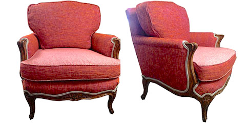 Another family heirloom made bright and bold. WOWee. Grandma's chair does not need to be boring.