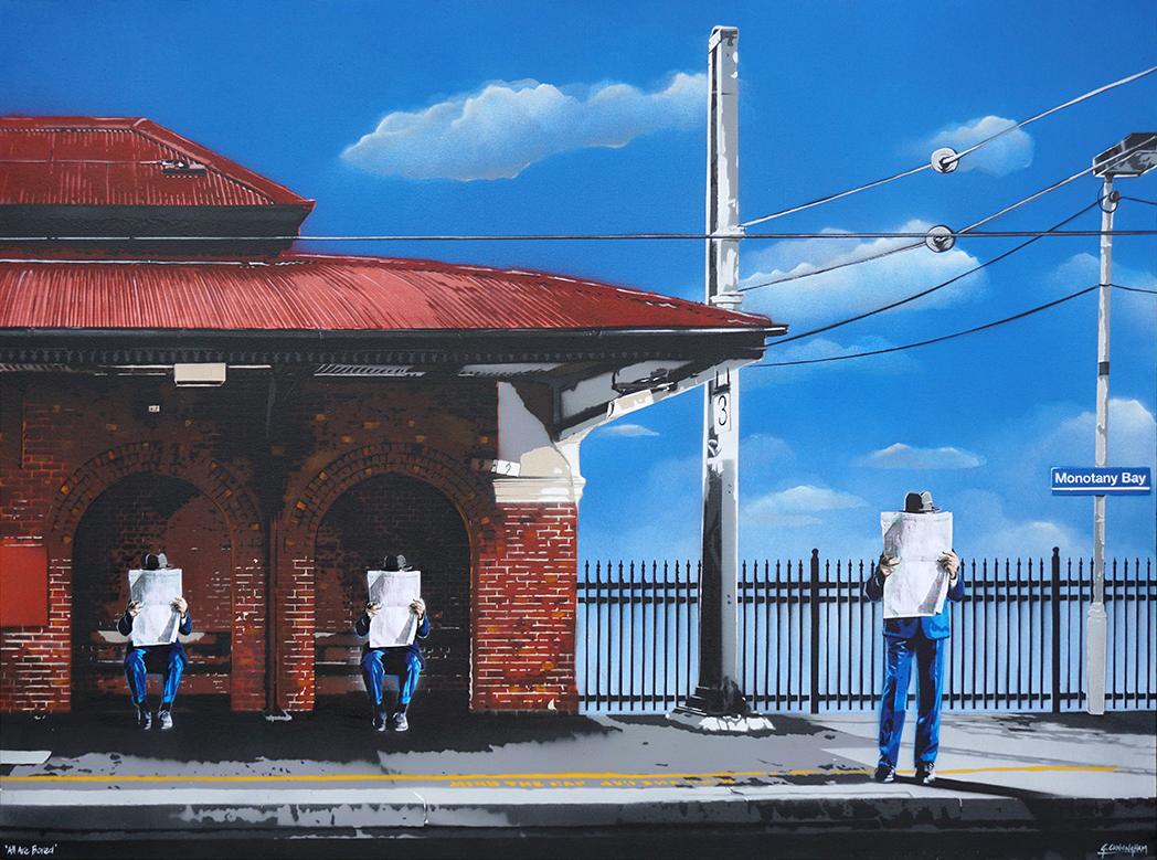 'All Are Bored' - 122 x 91.5cm