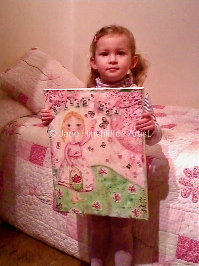 Child's Personalised Painting - What a lovely addition to your child's bedroom - a personalised piece of art. Truly, a wonderful gift from a parent, grandparent, godparent, aunt or friend etc.I love working on Artwork Commissions because I get to work closely with the client and bring to life their vision - it's a magical process and such a privilege.