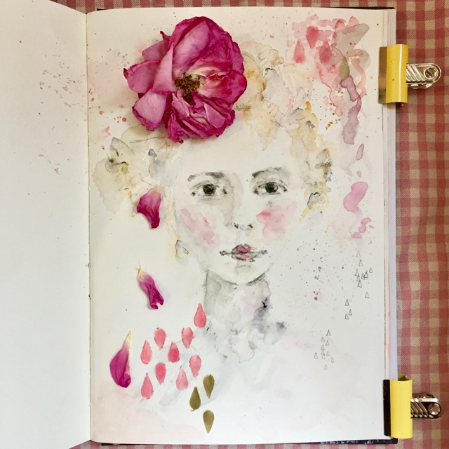 Free! - Faded Flowers Watercolour - Enjoy this expressive and spontaneous female portrait painting - really pretty!I've created this class for Subscribers only but I'd love for you to enjoy it - simply fill out the form below.