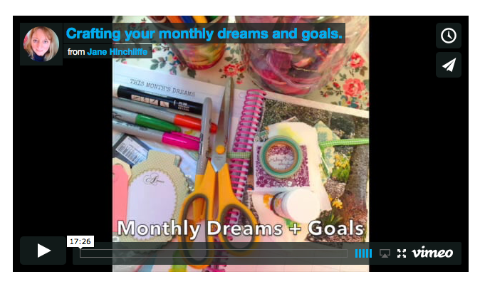 Free! - Monthly Dreams and Goals  - For some years I have pulled together images, supplies and then taken the time to jot down upcoming monthly dreams and goals. I really believe in this process - the best blend of reflection, a cup of tea, a little journal writing and creativity!I've created this class for Subscribersonly but I'd love for you to enjoy it - simply fill in the form below.
