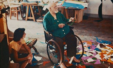 Matisse with one of his studio assistants.