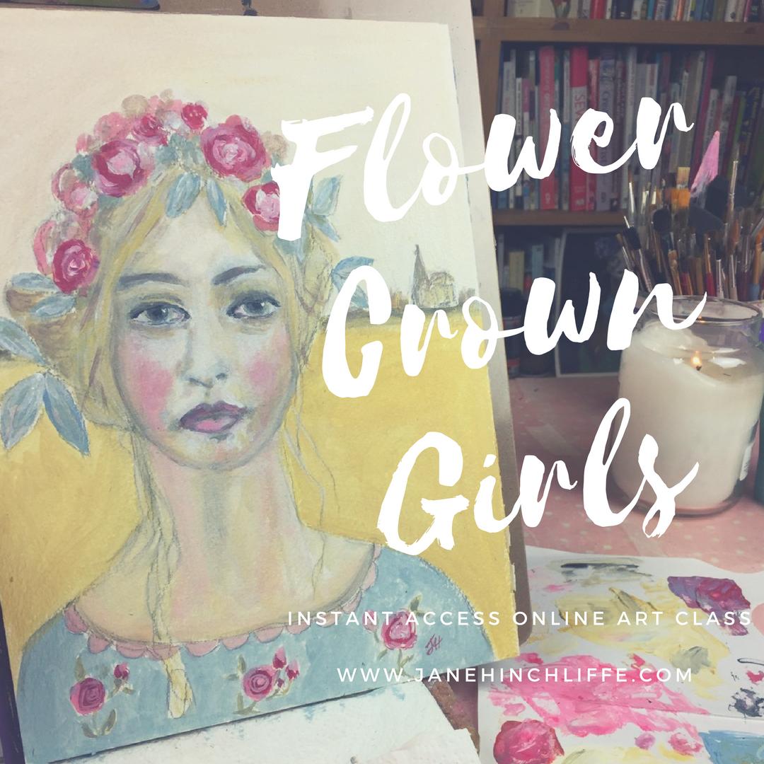 flower crown girls class