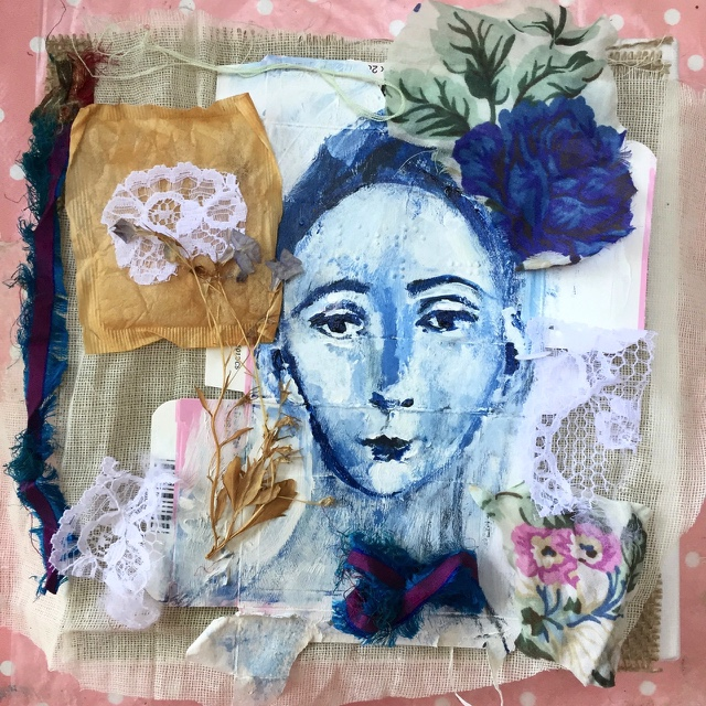 Nourish - mixed media collage from my  HeadsUp  series