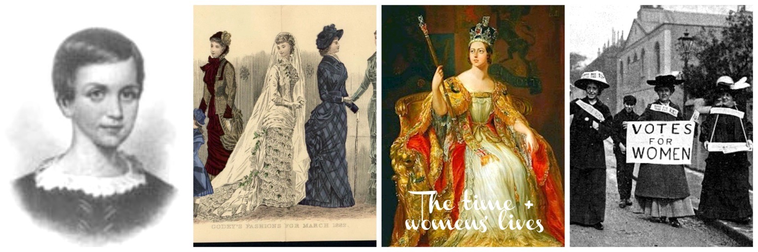 Women's Lives - As a bit of a social and art history buff, I had to include a slideshow with a sprinkling of art history and in addition, share some inspiring stories of some amazing women from this time period - it's a great pairing!