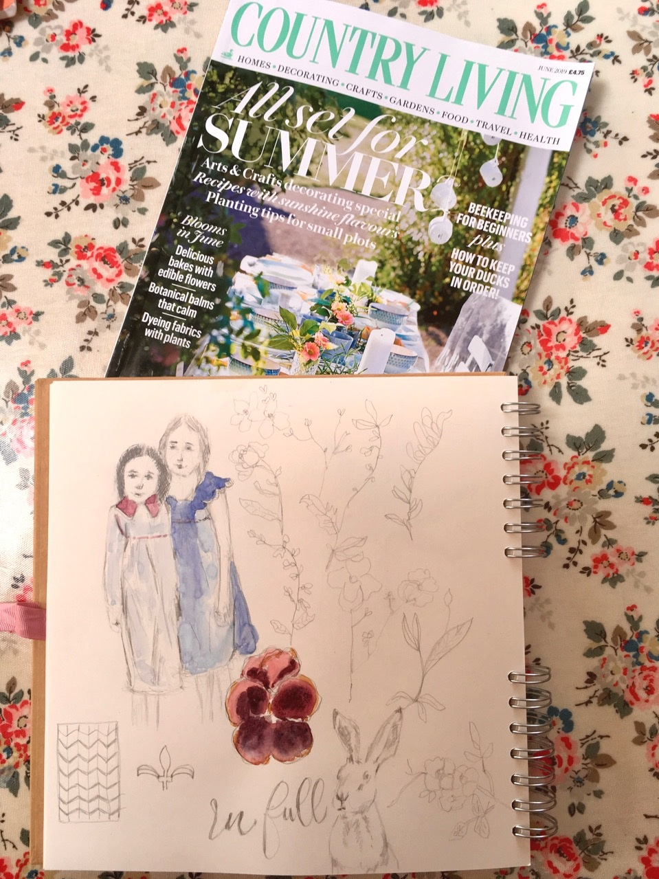 country+living+magazine+and+sketching+-+Jane+Hinchliffe