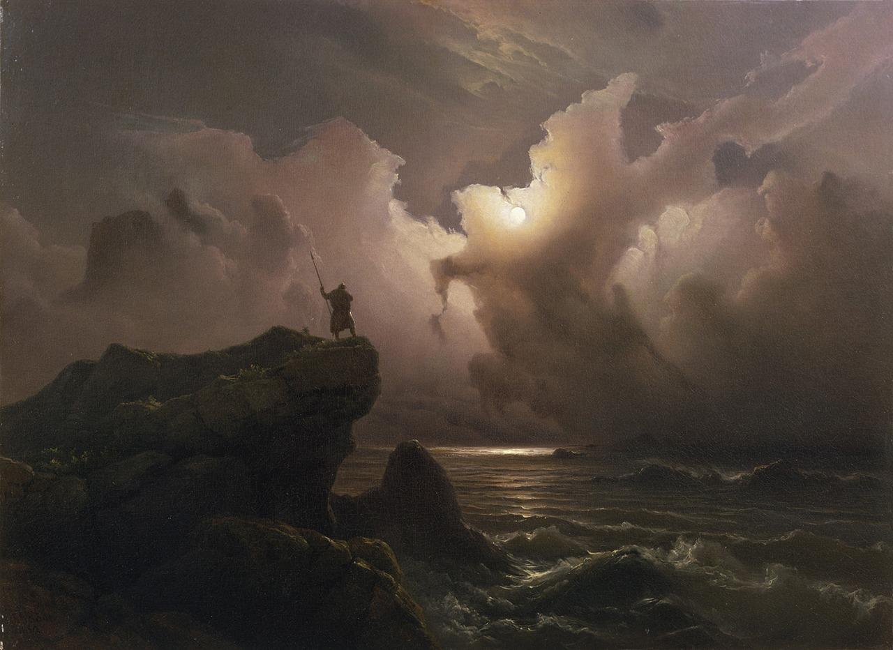 Scene from the Era of Norwegian Sagas, Knud Baade, 1850