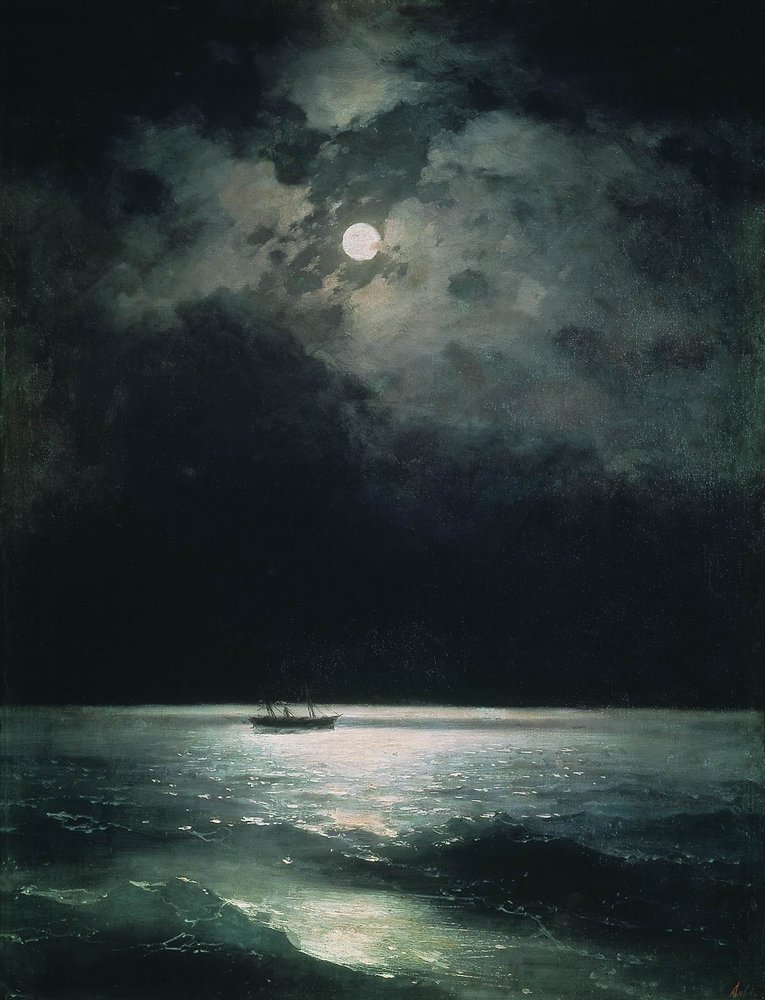 The Black Sea at night, 1879 - Ivan Aivazovsky