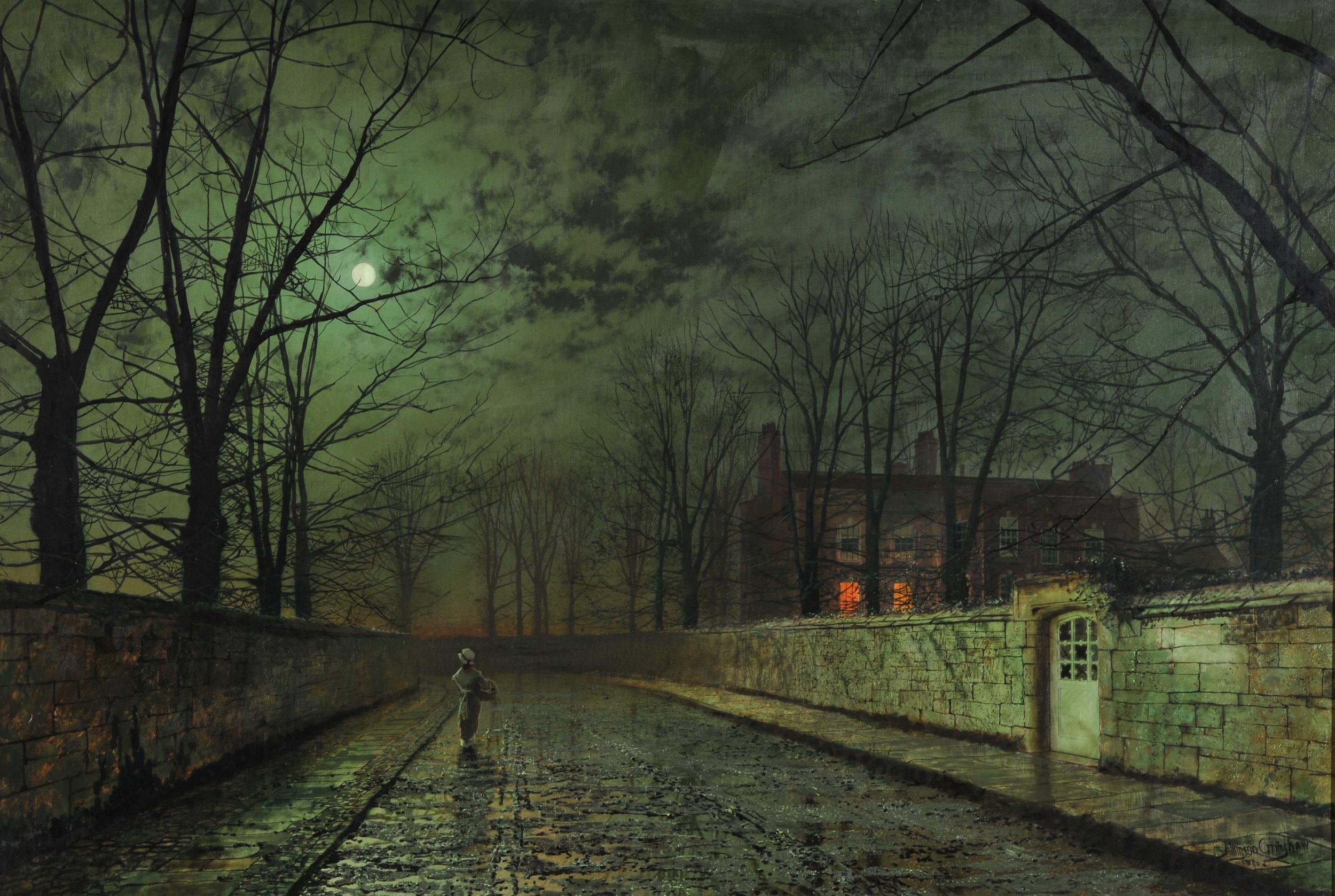 Moonlight After Rain, John Atkinson Grimshaw