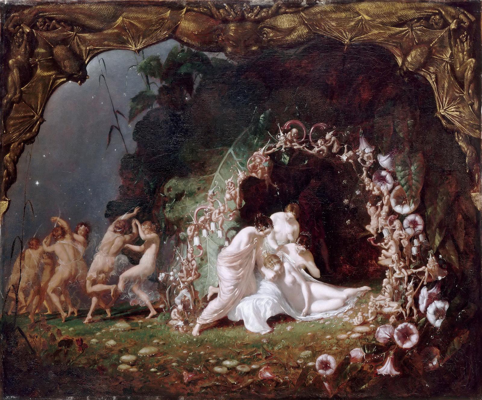 Titania Sleeping by Richard Dadd, 1817-1886