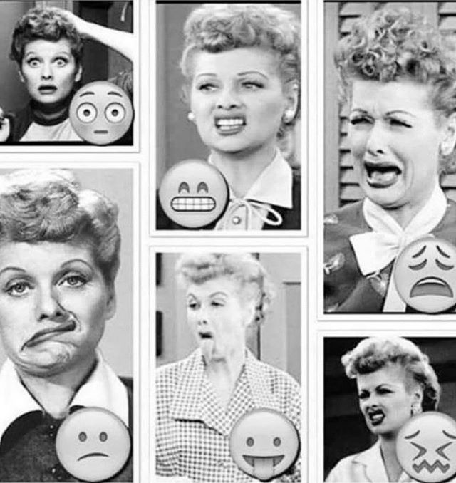 Before there were emojis there was Lucy 🤣 Happy Friday everyone!